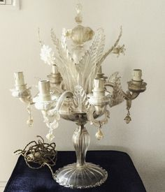 LAMPADA DA TAVOLO ARCHIMEDE SEGUSO MURANO ANNI '40 - Vendita varie d'epoca   Passione Antiqua