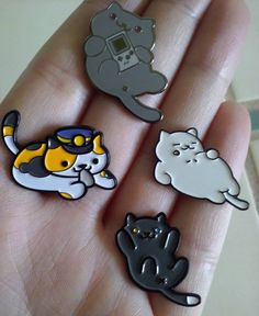 neko atsume mobile app game pins