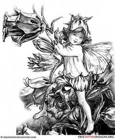 Child fairy tattoo design