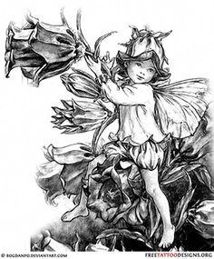 Child fairy tattoo design