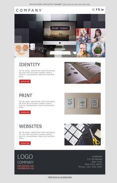 Plantillas newsletter para diseñadores gráficos. Todo lo que puedes imaginar se hace realidad en el emailing de Mailify.
