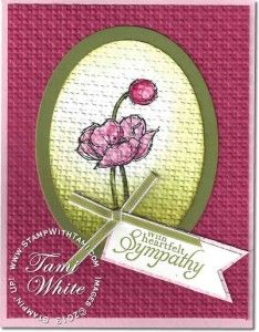 a beautiful sympathy card created by Sue McQuiston... on Tami White's blog