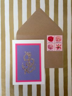 Anchor Card  Hand stamped and Embossed  Blank Card by RHCollection, $4.50