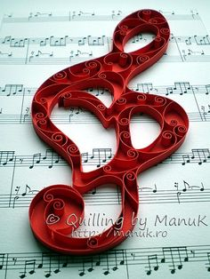musical note quilling