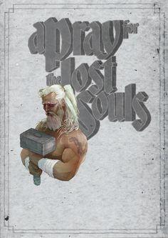Thor, God of thunder, illustration, poster, typography, mixed media,