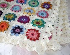 Different styles of squares mixed. Like the idea so I have ordered the book from library