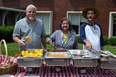 Those attending the 16th annual balloon launch at Eliza Jennings Home enjoyed a delicious picnic lunch. Executive Director Dr. Basabi helped serve residents, their families, and staff.