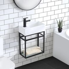Shop for Swiss Madison Pierre Single, Metal Frame, Open Shelf, Bathroom Vanity. Get free delivery On EVERYTHING* Overstock - Your Online Furniture Outlet Store! Open Shelving, Shelves, Complete Bathrooms, Master Bathrooms, Dream Bathrooms, Black Cabinets, Bath Vanities, Sinks, Single Bathroom Vanity
