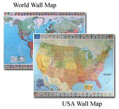 USA Political Wall Map US STATE MAPS Pinterest Wall Maps - Us globe map
