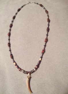 Handmade Beaded Necklace  Red Tigers Eye & by LaurelMoonCreations, $24.99
