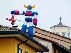 Santa vs Goldrake, Vicenza Italia
