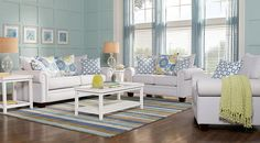 Cottage Shore White 7 Pc Living Room from  Furniture