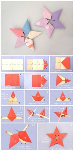Origami paper folding step by step – Craft Ideas Origami And Kirigami, Paper Crafts Origami, Origami Stars, Diy Paper, Origami Flowers, Origami Ideas, Origami Patterns, Money Origami, Easy Origami
