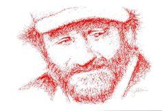 Titolo: Robin Williams Tecnica: China gel e Pastelli Tempo d'esecuzione: 16 minuti #portrait #art #RobinWilliams