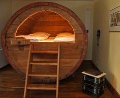 Historic Beer Barrel converted into single or Double Bed in German Hotel