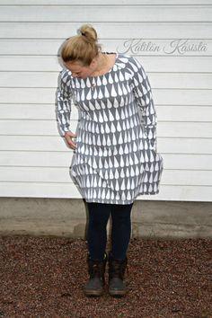 Kätilön Käsistä: Isotaskuinen pisaratunika - a raindrop tunic Rain Drops, Sewing, Sweaters, Dresses, Fashion, Tunic, Vestidos, Moda, Dressmaking