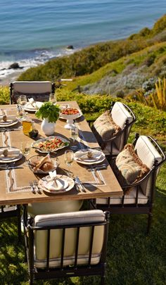 The generous scale and inviting silhouettes of our Sorrento Dining Collection evoke the relaxed warmth of Tuscany.  | Frontgate: Live Beautifully Outdoors
