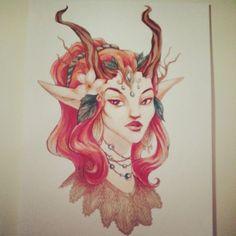 sketch Enchantress by AntaRF on DeviantArt
