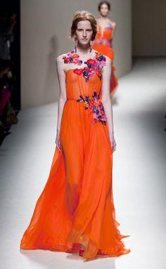 Vestido naranja de Alberta Ferretti RS14
