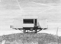 Ornithologenhaus, Zeichnung Architektur, Denis Andernach