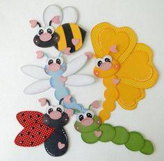 abeille papillon chenille