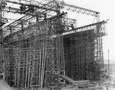 Titanic shipyard no. 401. Olympic no. 400