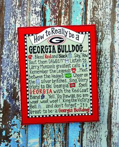 How to really be a GEORGIA BULLDOG!