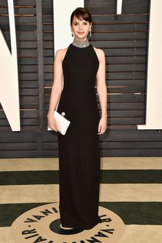 OSCARS Felicity Jones in Saint Laurent