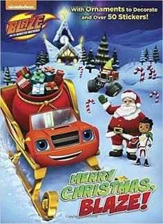 Merry Christmas, Blaze! (Blaze and the Monster Machines) (Color Plus Cardstock and Stickers): Rachel Chlebowski, Dynamo Limited: 9780399553035: Amazon.com: Books