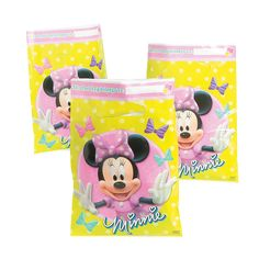 Minnie Bowtique Treat Bags - OrientalTrading.com