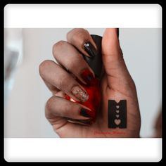 Red nails to match those striking lips ? #statement look