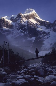 Crossing the river, Torres del Paine National Park, Chile (by footleg). Places Around The World, The Places Youll Go, Places To See, Around The Worlds, Beautiful World, Beautiful Places, Amazing Places, Viajes, National Parks