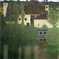 Gustav Klimt  Schloss Kammer on Lake Attersee I (Water Castle), 1908 110 x 110 cm Oil on canvas Národní Galerie, Praque