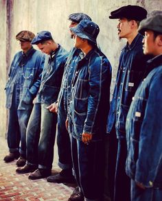 Denim Fashion, Fashion Outfits, Work Jackets, Denim Style, Man Style, Vintage Denim, Mens Clothing Styles, Jeans And Boots, Blue Jeans
