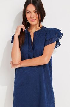 Shop womens dress at vineyard vines Midi Sundress, On Repeat, Embroidered Tunic, Platform Sneakers, Ruffle Sleeve, Spring Summer Fashion, Summer Outfits, Cold Shoulder Dress, Feminine