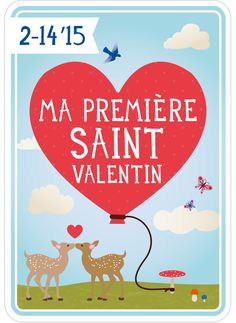 Valentine's Day card in French as free download on: http://www.milestonecards.com/en/news/2015/02/love-air/77