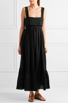 Chloé | Tie-back linen maxi dress | NET-A-PORTER.COM