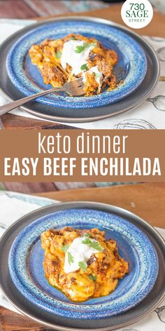 This Keto Beef Enchilada Casserole is great with some avocado or low carb tortilla shells too. You could also serve it on a bed of zucchini noodles, I think it would be delicious that way as well.#easydinner #easyrecipes #onthetable #enchiladarecipes #lowcarb #beefenchilada Easy Beef Enchiladas, Enchilada Casserole Beef, Enchilada Recipes, Casserole Recipes, Low Carb Chicken Recipes, Mexican Food Recipes, Low Carb Recipes, Low Carb Pizza, Low Carb Lunch