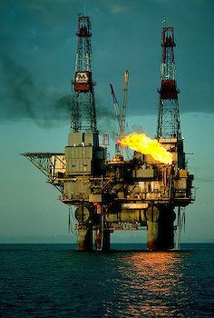Off Shore Oil Rig I Alaska Travel Photos