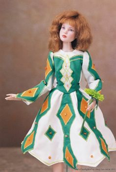 Irish Jane Kelly, Mary Ellen's doll to honor the memory of her great-great-grandmother, 2011 doll commission by Nancy Lee Moran and Hankie Couture #Tonner #doll #Irish