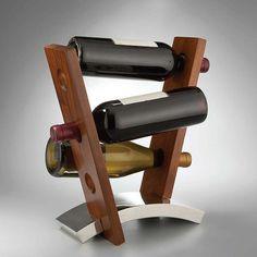 Nambe Joust wine rack display