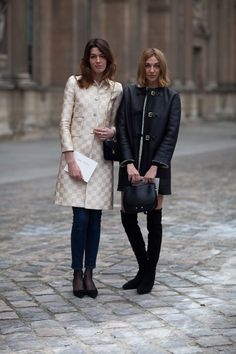 They must be french .  Paris Street Style Fall 2013 - Paris Fashion Week Style Fall 2013 - Harper's BAZAAR