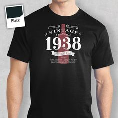 80th Birthday T Shirt Gift