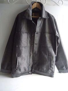 Mens Wall Street Blue Jeans Company Silver Grey Denim Jacket