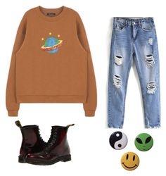 """Space"" by stinkhead on Polyvore featuring Dr. Martens"