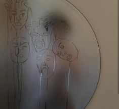 "I think this is someone making faces in a fogged up mirror and ""drawing"" them in the condensation Kunst I think this is someone making faces in a fogg. Aesthetic Photo, Aesthetic Art, Aesthetic Pictures, Aesthetic Drawing, Art Hoe, Belle Photo, Wall Collage, Oeuvre D'art, Art Inspo"