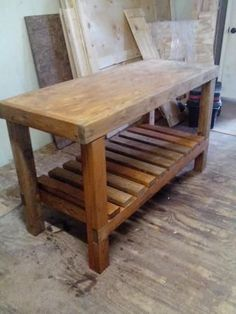 Easy garage wood shop work table plans 2x4 fast free build make your own ANA-WHITE.com