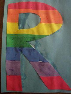 letter R craft- Rainbow