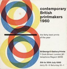 Gallery card, 1960. Image courtesy Sally Jeffery