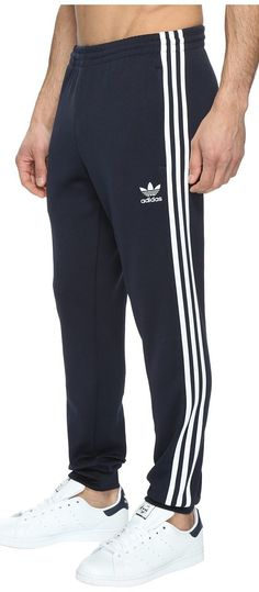 adidas Originals Superstar Cuffed Track Pants (Legend Ink) Men's Casual Pants - adidas Originals, Superstar Cuffed Track Pants, AJ6961-401, Apparel Bottom Casual Pants, Casual Pants, Bottom, Apparel, Clothes Clothing, Gift, - Fashion Ideas To Inspire